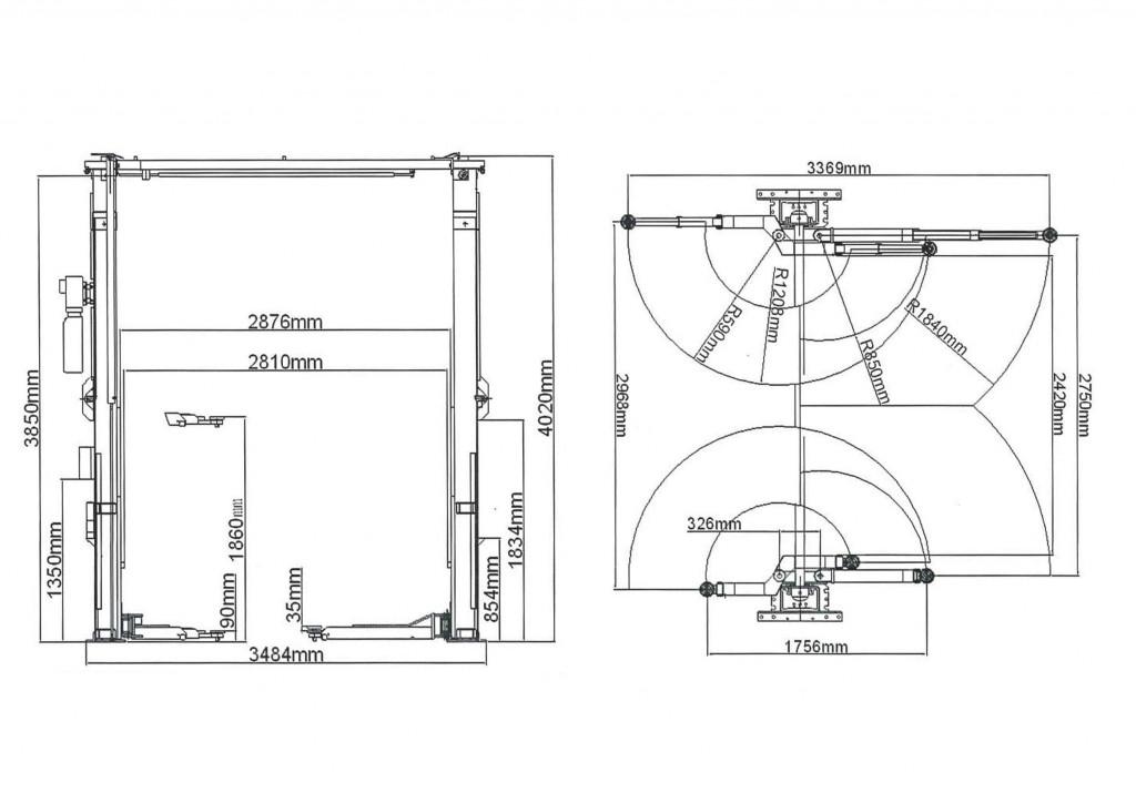 2柱門型リフト(165948M)