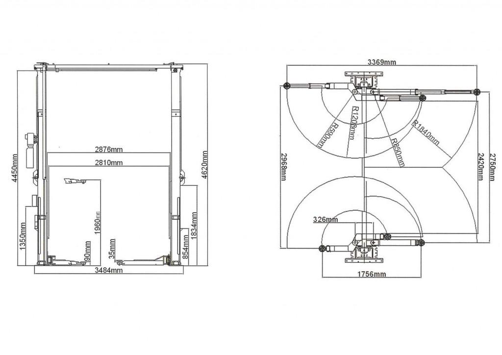 2柱門型リフト(65948H)